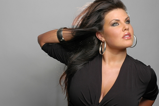 Captivating Christina Schmidt (Wilhelmina); perhaps the most gorgeous of all plus-size models